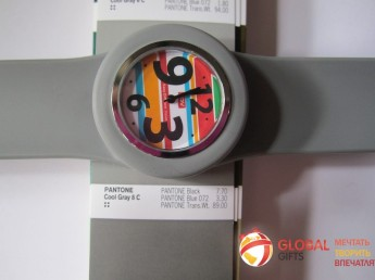 Часы слэп. Цвет по Pantone. Фирменная символика заказчика. Фото 7