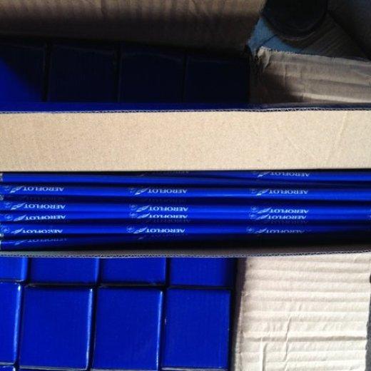 мягкий карандаш Аэрофлот синий