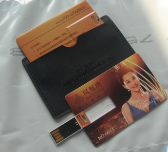 USB flash флэшка  размером с кредитку Фото 1 с чехлом