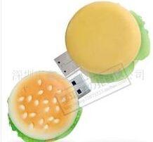 USB flash PVC флэшка из ПВХ по индивидуальному дизайну в виде гамбургера