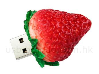 USB flash PVC флэшка из ПВХ по индивидуальному дизайну в виде клубники
