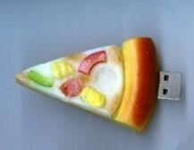 USB flash PVC флэшка из ПВХ по индивидуальному дизайну в виде пиццы фото 2