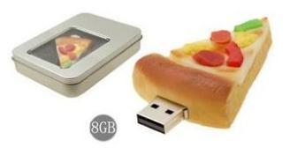 USB flash PVC флэшка из ПВХ по индивидуальному дизайну в виде пиццы