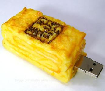 USB flash PVC флэшка из ПВХ по индивидуальному дизайну в виде слоеного теста