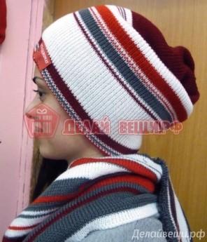 Вязанный набор - шапка и шарф