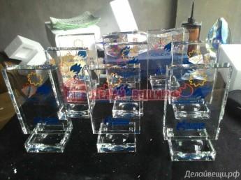 Награды из стекла 30 штук