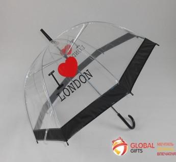 Промо зонт прозрачный. Фото 4