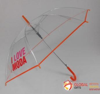 Промо зонт прозрачный. Фото 5