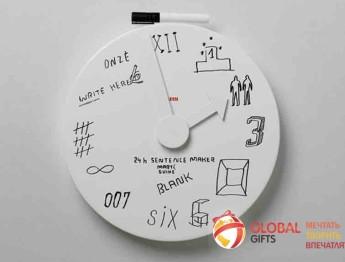Часы в виде доски для записей. Фото 1