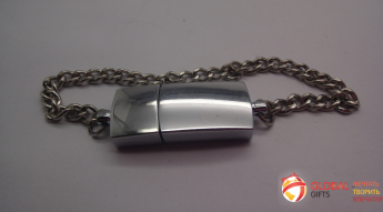 USB flash (флэшка) метал серебро. Фото 1