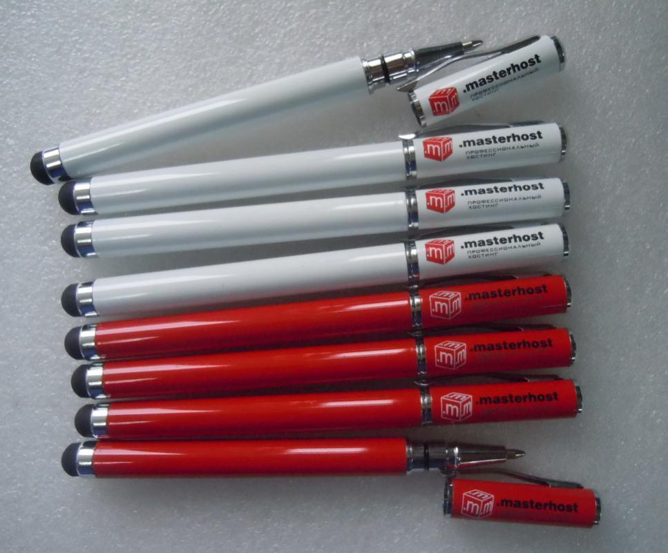 Ручка со стилусом для компании Мастерхост.