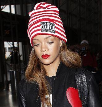 Rihanna at Los Angeles International Airport, Los Angeles, America - 15 Feb 2013