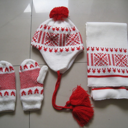 hat gloves and scarf set