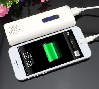Power bank универсальный с фонариком, аудио динамик и кнопка управления вспышкой телефона, блютуз 1