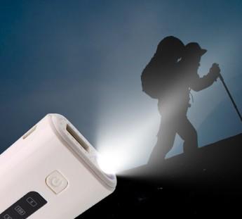 Power bank универсальный с фонариком, аудио динамик и кнопка управления вспышкой телефона, блютуз 2