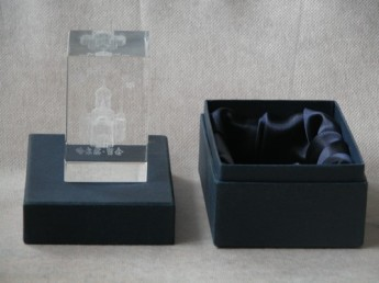 3D гравировка в акриле сувенир в подарочной упаковке