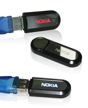 USB flash флэшка пластик со светящимся логотипом фото 2