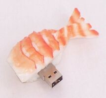 USB flash PVC флэшка из ПВХ по индивидуальному дизайну в виде суши фото 2