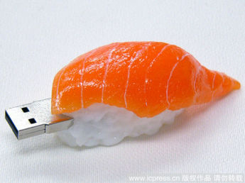 USB flash PVC флэшка из ПВХ по индивидуальному дизайну в виде суши фото 3