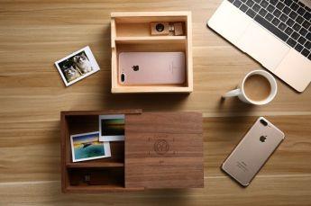Подарочный набор ежедневник и флешка дерево в коробке из дерева Фото 2