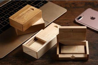 флешка в деревянном корпусе в деревянном футляре Фото 1