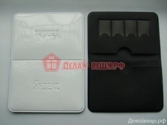 Визитница с карманами для SIM карт индивидуальный дизайн, подбор материалов