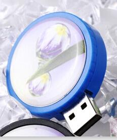 Пластиковая флешка печать полноцвет с заливкой смолой Фото 4