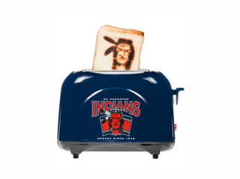 Тостер выжигающий логотип