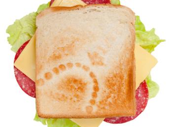 Сэндвич выжженым рисунком