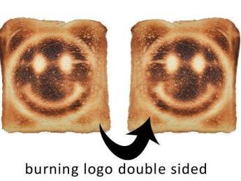Тост с логотипом с двух сторон