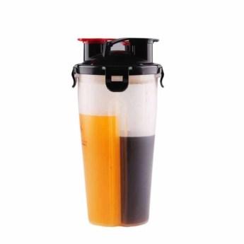 Бутылка с двумя отделениями для жидкостей Фото 4