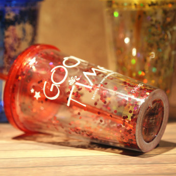 Глиттерный пластиковый стакан Фото 21