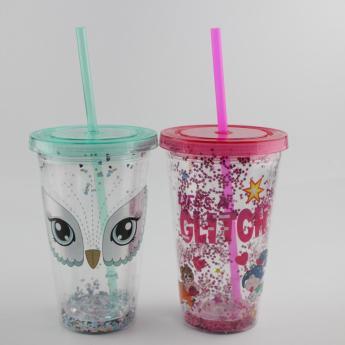 Глиттерный пластиковый стакан Фото 23