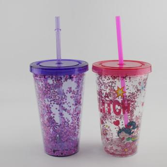Глиттерный пластиковый стакан Фото 24