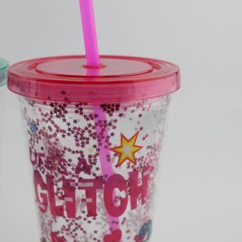 Глиттерный пластиковый стакан Фото 26