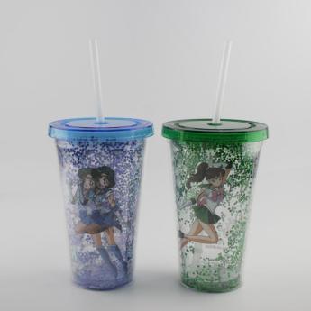 Глиттерный пластиковый стакан Фото 27