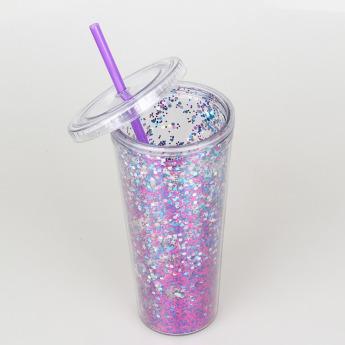 Глиттерный пластиковый стакан Фото 28