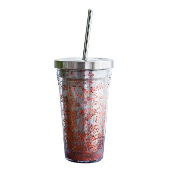 Глиттерный пластиковый стакан Фото 5