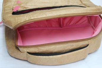 Ненамокаемый бумажный рюкзак образец Фото 9