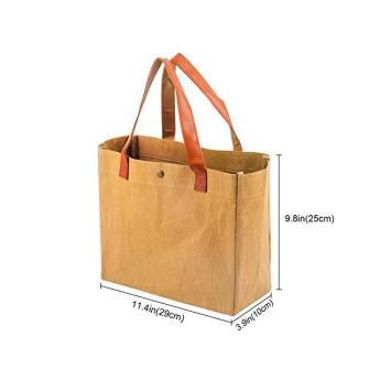 Непромокаемая бумажная классическая сумка Фото 19