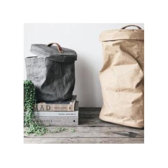 Непромокаемая бумажная складная сумка бак с крышкой Фото 1