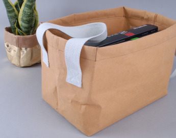 Непромокаемая бумажная сумка бокс для хранения Фото 2