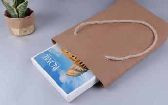 Непромокаемая бумажная сумка с веревочными ручками Фото 3