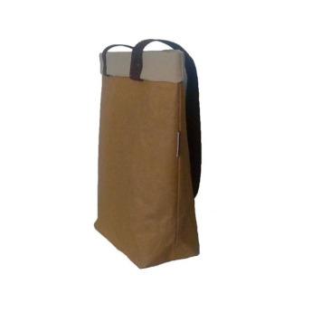Непромокаемая бумажная сумка с длинными ручками Фото 2