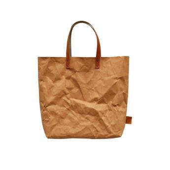 Непромокаемая бумажная сумка с ручками Фото 2
