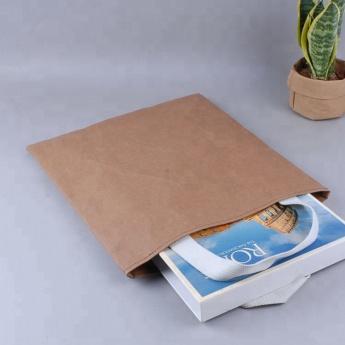 Непромокаемая бумажная сумка с тканевыми ручками Фото 1