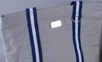 Непромокаемая бумажная сумка с тканевыми ручками Фото 10