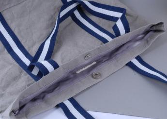 Непромокаемая бумажная сумка с тканевыми ручками Фото 11