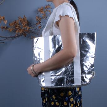 Непромокаемая бумажная сумка с тканевыми ручками Фото 12
