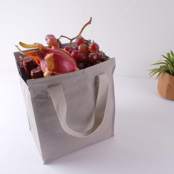 Непромокаемая бумажная сумка с тканевыми ручками Фото 18